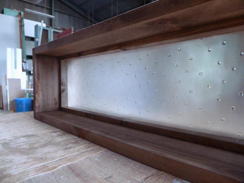室内窓・FIX窓/(水玉ガラス・内側斜め)