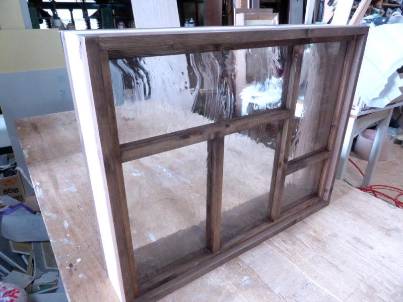 変形格子のFIX窓(外側斜め)
