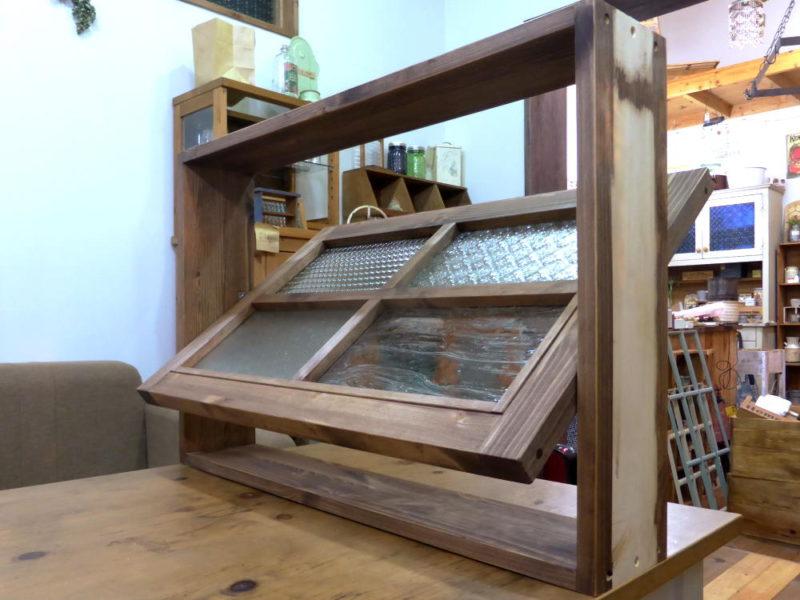 パッチワークガラスの回転窓/室内窓のオーダーメイドokamoku