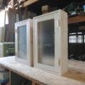 片開き室内窓(白色木目仕上げ)