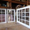 白色塗りつぶし仕上げの室内窓(FIX)