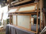 横幅175cm!引き違いと滑り出しの複合室内窓とその半分サイズ窓-1006