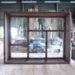 変形格子のFIX室内窓(泡入りガラス・押し縁式)-413