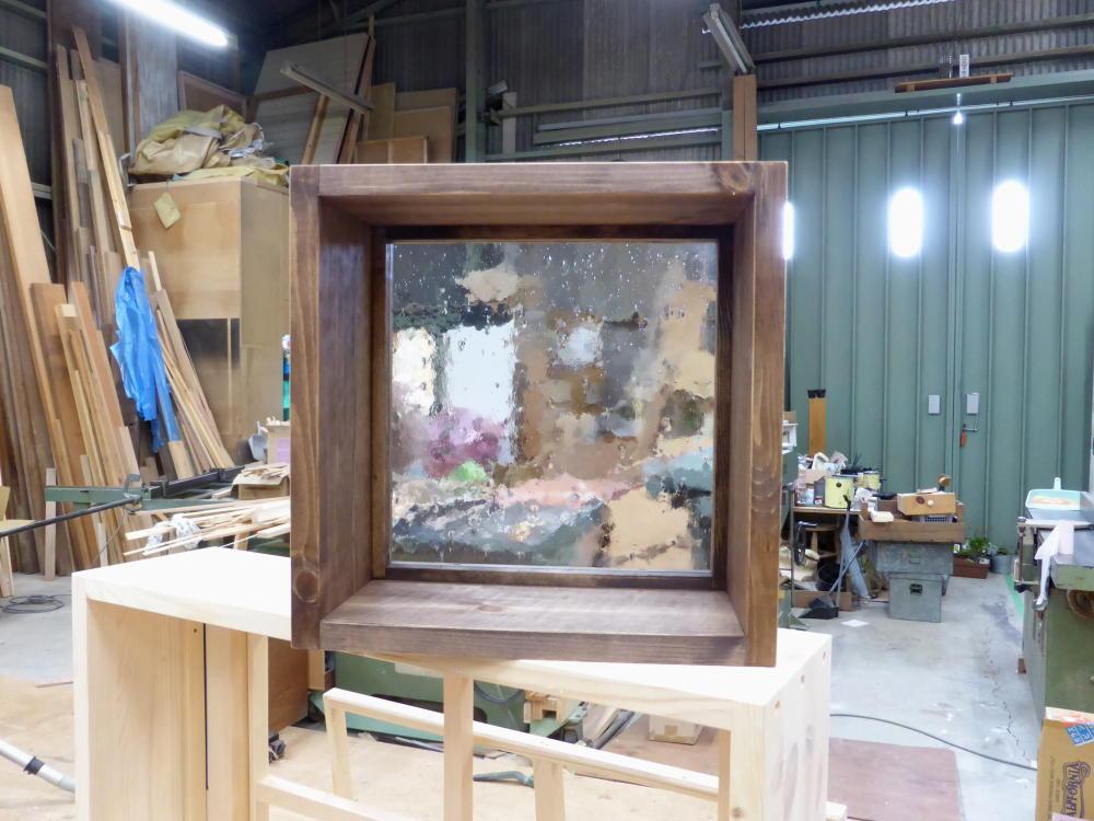 FIX室内窓(気泡ガラス・okamoku)