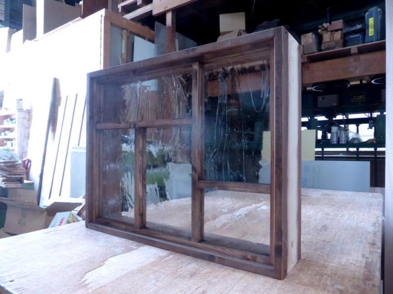 変形格子のFIX窓(外側斜め2)