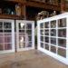 白色塗りつぶし仕上げの格子FIX室内窓-1002
