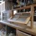 十字格子とチェッカーガラスの回転窓-111