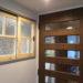 既設枠合わせの引き違い室内窓(変形格子・パッチワークガラス・無塗装)-1004