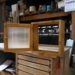 片開き窓(小型 40*40・チェッカーガラス・簡易型)-229