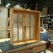 チェッカーガラスの観音開き室内窓(十字格子付き)-282
