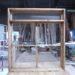 チェッカーガラスと透明ガラスの2段FIX窓(H100*W90)-359