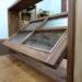 パッチワークガラスの回転窓(チェッカー・泡入り・フローラ・水玉)-592