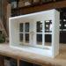 オフホワイトの2枚観音開き室内窓(十字格子、アーティスタ)-73